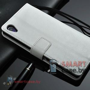 Чехол для Sony Xperia Z2 PU кожа Crazy Horse (белый)