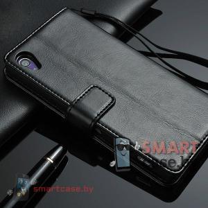 Чехол для Sony Xperia Z2 PU кожа Crazy Horse (черный)