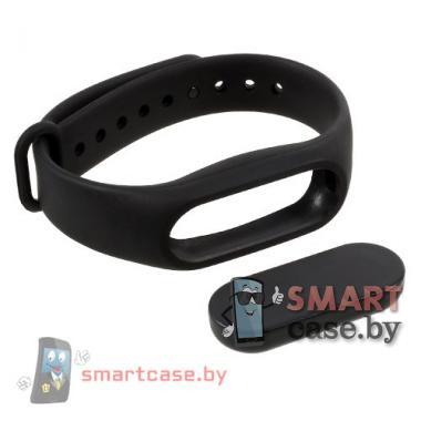 Ремешок для фитнес - браслета Mi Band 2 силиконовый (черный)