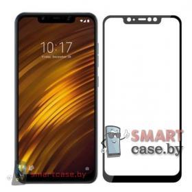 Защитное стекло для Xiaomi Pocophone F1 с полной проклейкой (чёрный)