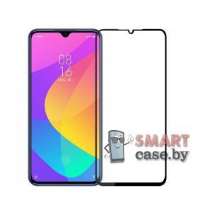 Защитное стекло для Xiaomi Mi A3 9D, 9H (чёрное)