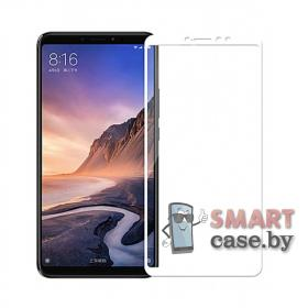Защитное стекло для Xiaomi Mi Max 3 с полной проклейкой 5D, 9H (Белое)