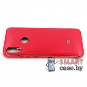 Силиконовый чехол Glass Case для Xiaomi Redmi Note 7 (Красный)