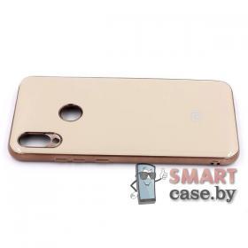 Силиконовый чехол Glass Case для Xiaomi Redmi Note 7 (Серый мрамор)