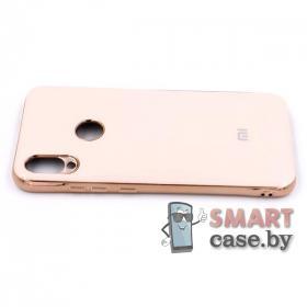 Силиконовый чехол Glass Case для Xiaomi Redmi Note 7 (Нежно-розовый)