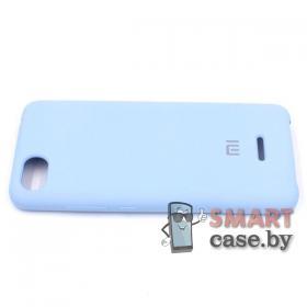 Силиконовый чехол Silicone Cover для Xiaomi Redmi 6A (Нежно-голубой)