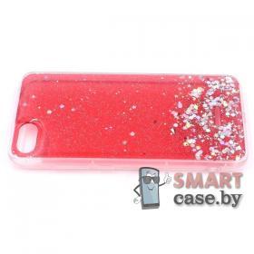 Силиконовый чехол для Xiaomi Redmi 6A (Красный блестящий)