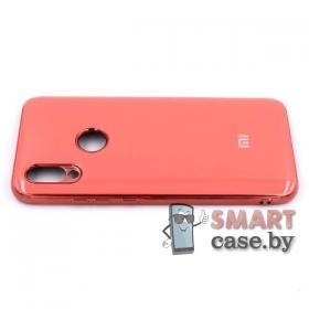 Силиконовый чехол Glass Case для Xiaomi Redmi 7 (коралловый)