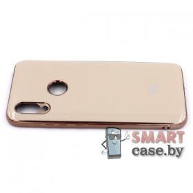 Силиконовый чехол Glass Case для Xiaomi Redmi 7 (серый мрамор)