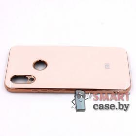 Силиконовый чехол Glass Case для Xiaomi Redmi 7 (нежно-розовый)