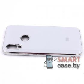 Силиконовый чехол Glass Case для Xiaomi Redmi 7 (белый)