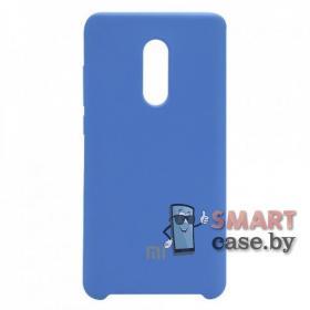 Силиконовый чехол Silicone Cover для Xiaomi Redmi Note 4/4X (Светло-синий)