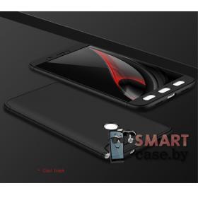 Пластиковый противоударный чехол GKK для Xiaomi Redmi Note 4X (Чёрный)