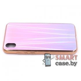 Стеклянный чехол для Xiaomi Redmi 7A (Розовый)