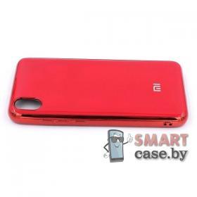 Силиконовый чехол Glass Case для Xiaomi Redmi 7A (красный)