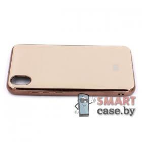 Силиконовый чехол Glass Case для Xiaomi Redmi 7A (серый мрамор)