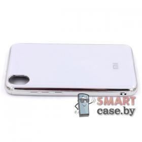 Силиконовый чехол Glass Case для Xiaomi Redmi 7A (белый)