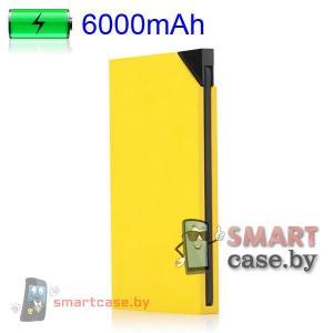 Внешний аккумулятор iHave 6 000 мАч, 1А-2.1А универсальный (желтый)
