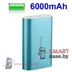 Внешний аккумулятор Yoobao 6 000 мАч, 2А универсальный (голубой)
