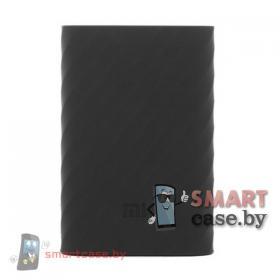 Силиконовый чехол для внешнего аккумулятора Xiaomi Mi Power Bank 10000 мAч (черный)