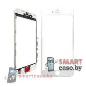 Стекло для iPhone 7 Plus в рамке с пленкой OCA (белый)