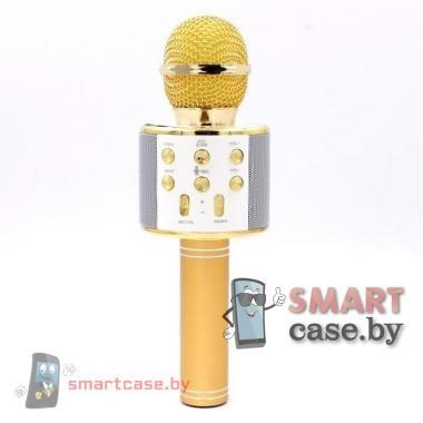 Караоке микрофон WSTER WS-858 беспроводной, оригинальный (Золото)
