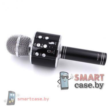 Караоке микрофон WSTER WS-858 беспроводной, оригинальный (Черный)