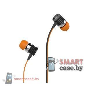 Наушники Celebrat S50 с гарнитурой вакуумные (оранжевые)