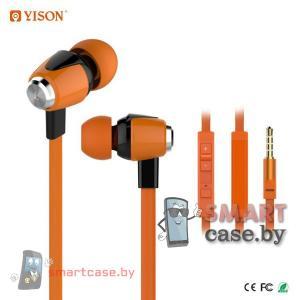 Наушники Celebrat S30 с гарнитурой вакуумные (оранжевые)