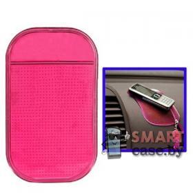 Коврик для телефона в автомобиль 13.5 см*7.5 см (Розовый)